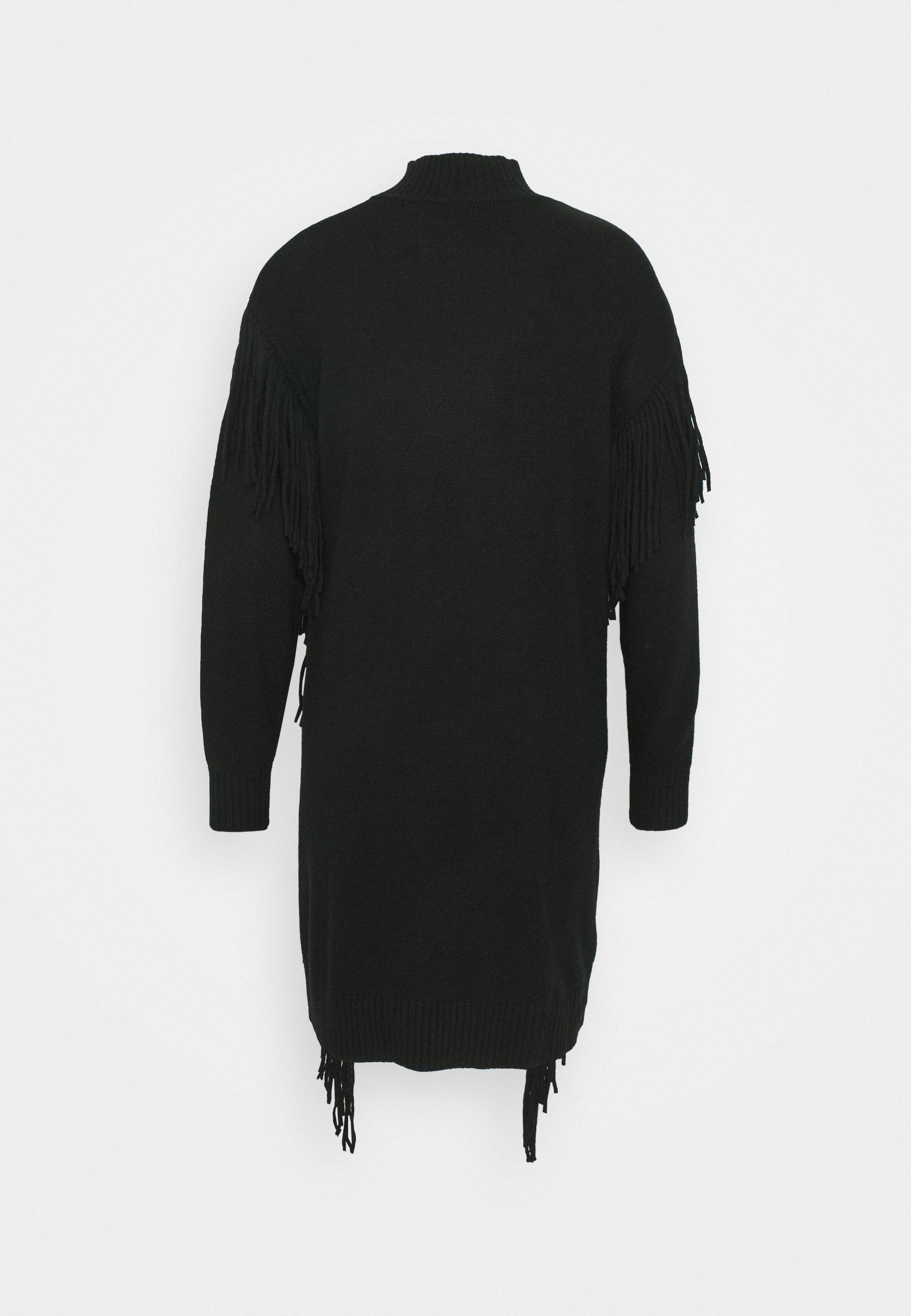 MIRAGGIO Gebreide jurk black