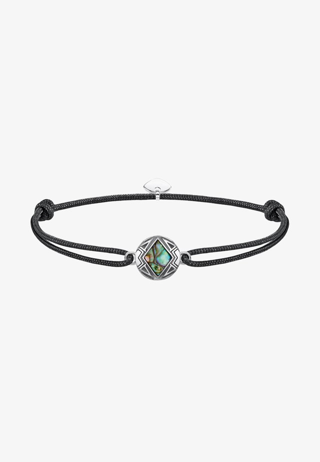 LITTLE SECRET COIN ABALONE PERLMUTT  - Armband - black/turquoise