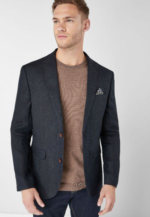 TEXTURED BLEND - Blazer jacket - blue