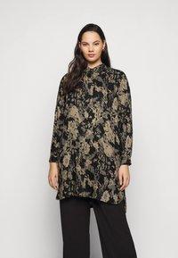 Kaffe Curve - HOLLY BIG - Button-down blouse - grape leaf - 0