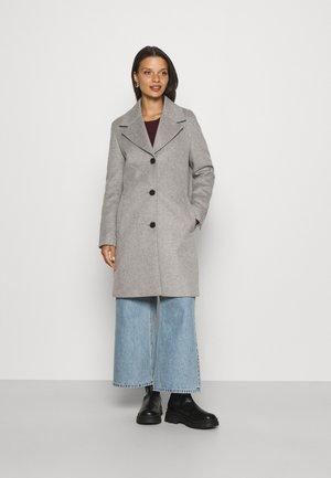 SLFNEW SASJA COAT - Klasický kabát - light grey melange