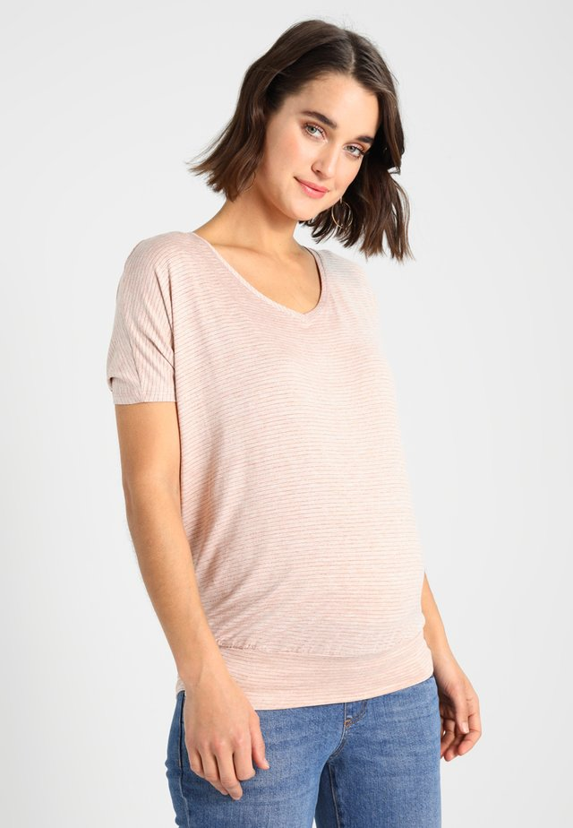 Basic T-shirt - pink/gold
