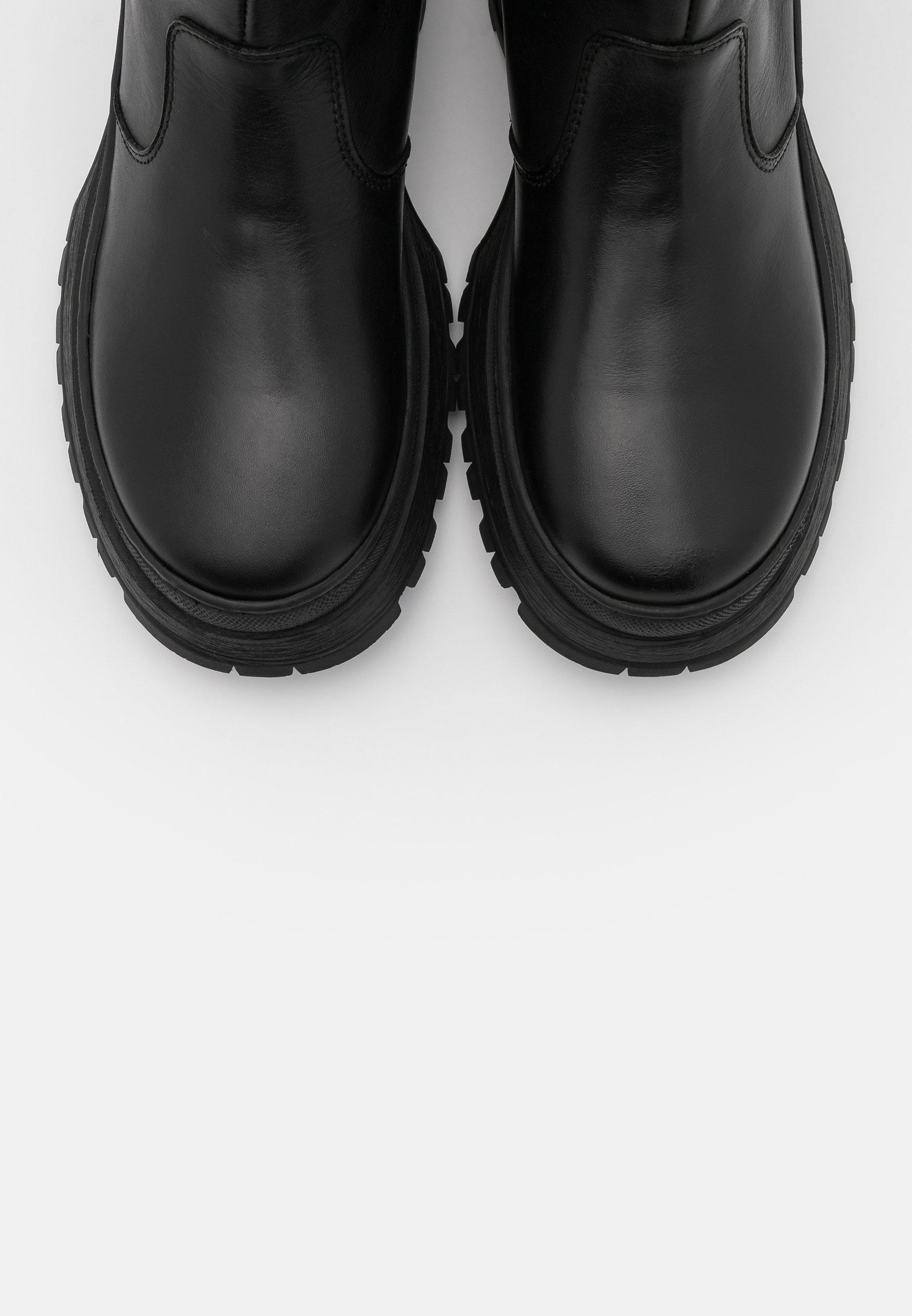 Pieces Psselione Boot - Platåstøvletter Black/svart