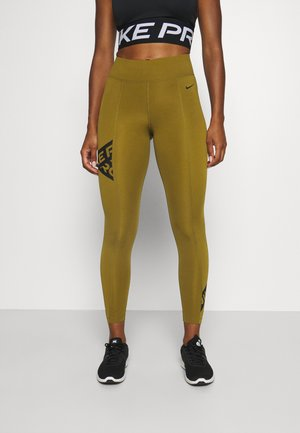7/8 TROMPE  - Leggings - olive flak/black