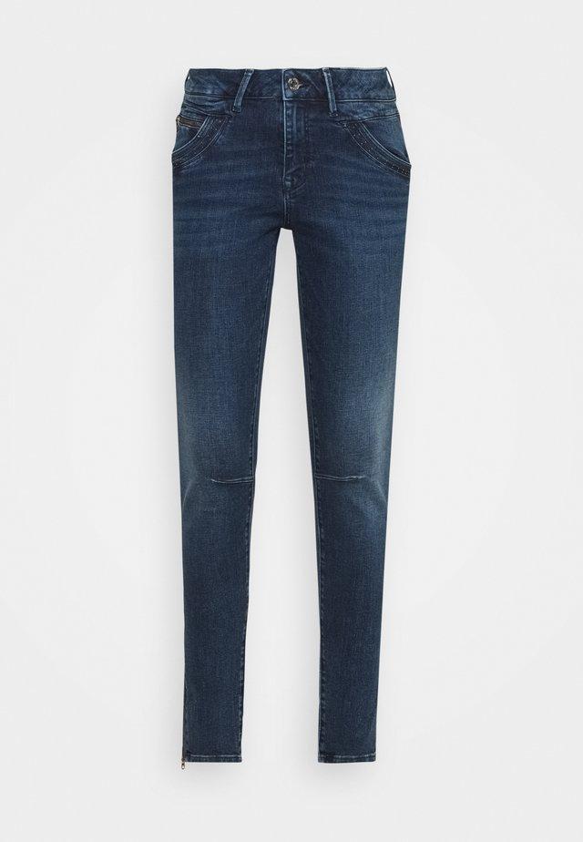 NICOLE ZIPPED - Jeans Skinny Fit - dark shaded memory