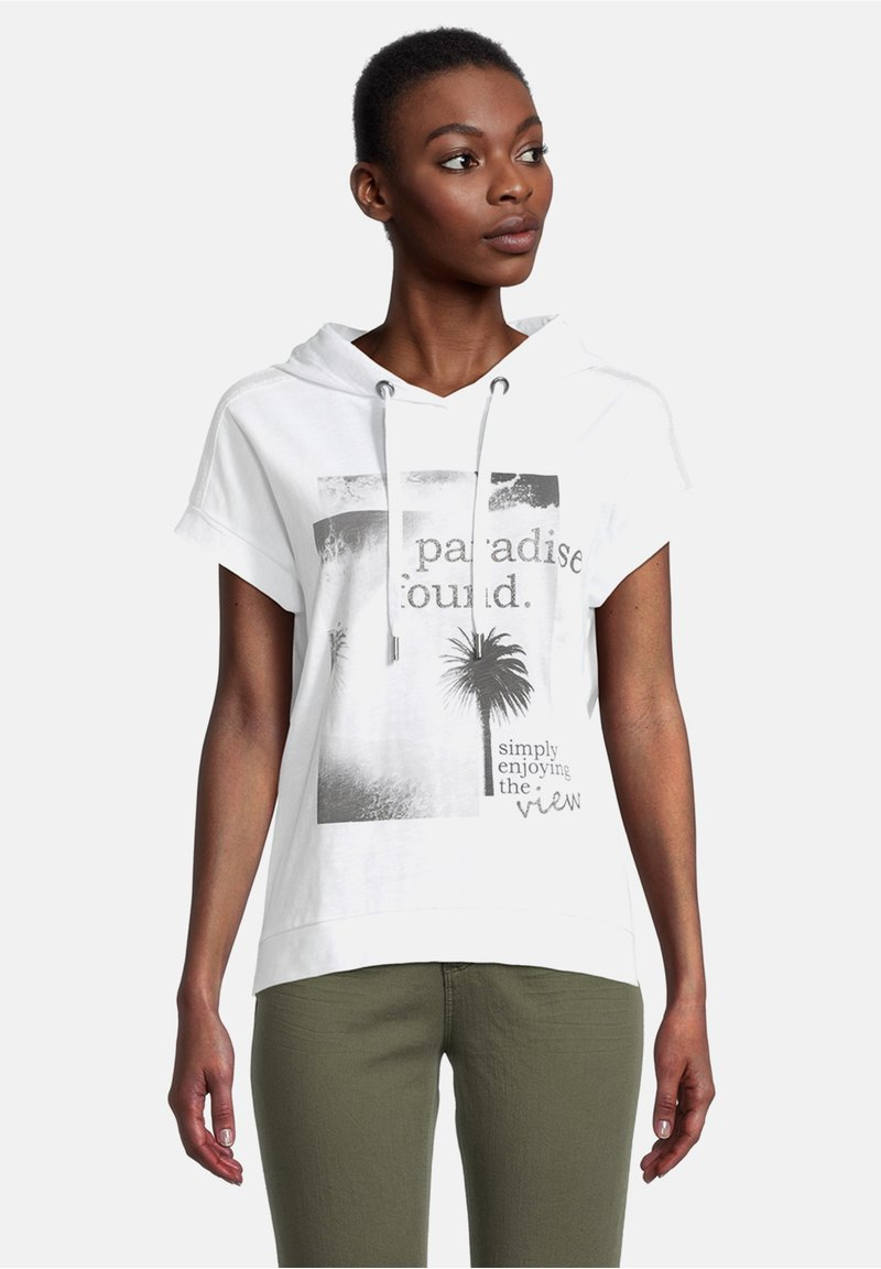 Cartoon - Print T-shirt - white/grey