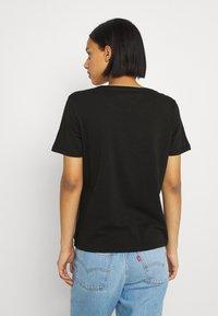 Tommy Jeans - SOFT TEE 2 PACK - Print T-shirt - black/black - 2