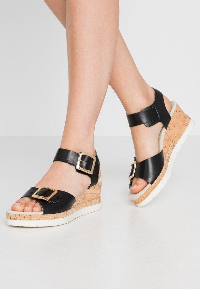 ROMERA - Korkeakorkoiset sandaalit - black