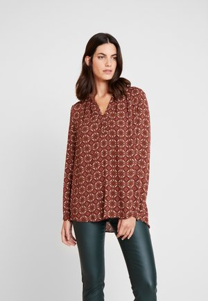 Tunic - dark red/cream