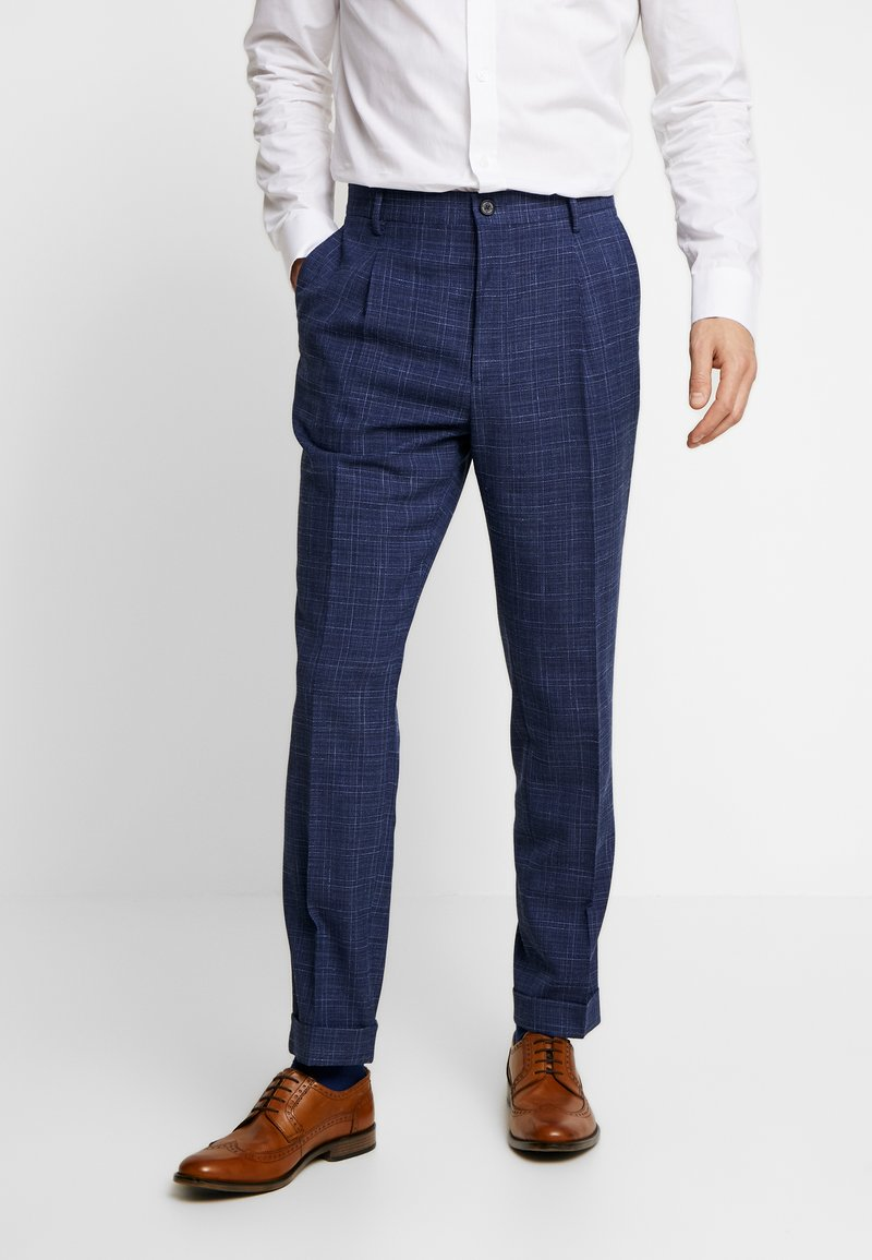 Tommy Hilfiger Tailored - SLIM FIT PLEATED FLEX PANT - Kalhoty - blue