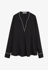 Violeta by Mango - PIPING - Blouse - schwarz - 4