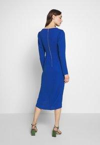Closet - DRAPE SKIRT WRAP TIE DRESS - Shift dress - cobalt - 2