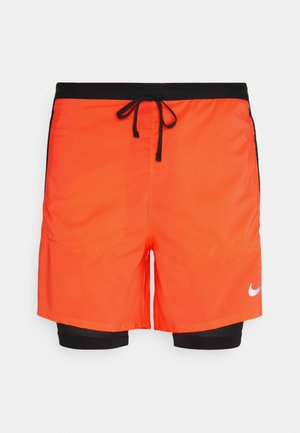 Sports shorts - bright mango/black/silver