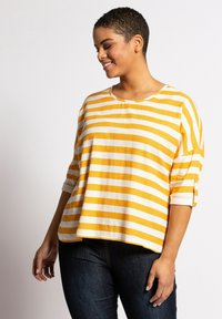 Ulla Popken - Long sleeved top - light yellow - 0