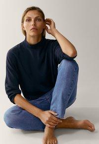 Massimo Dutti - MIT STEHKRAGEN - Long sleeved top - dark blue - 3
