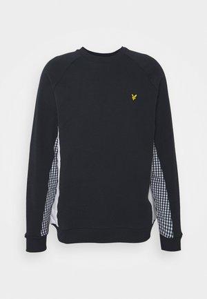 GINGHAM CUT AND SEW - Sweatshirt - dark navy