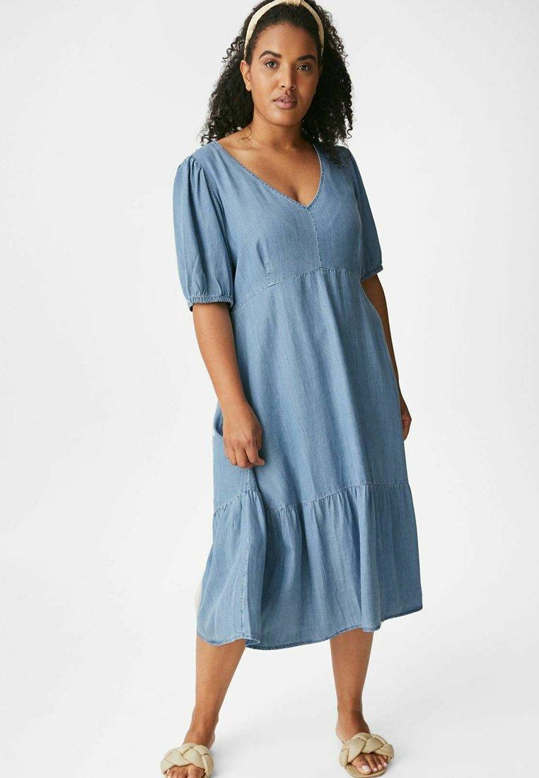 C&A - Maxi dress - denim-blue