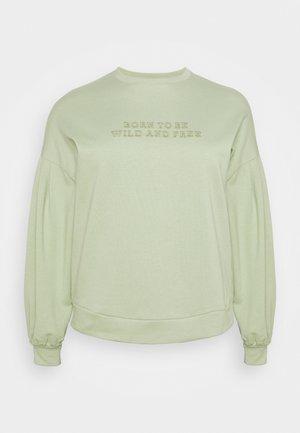 EMBROIDERED - Sweatshirt - sage