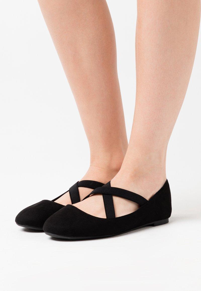 New Look Wide Fit - WIDE FIT - Bailarinas con hebilla - black