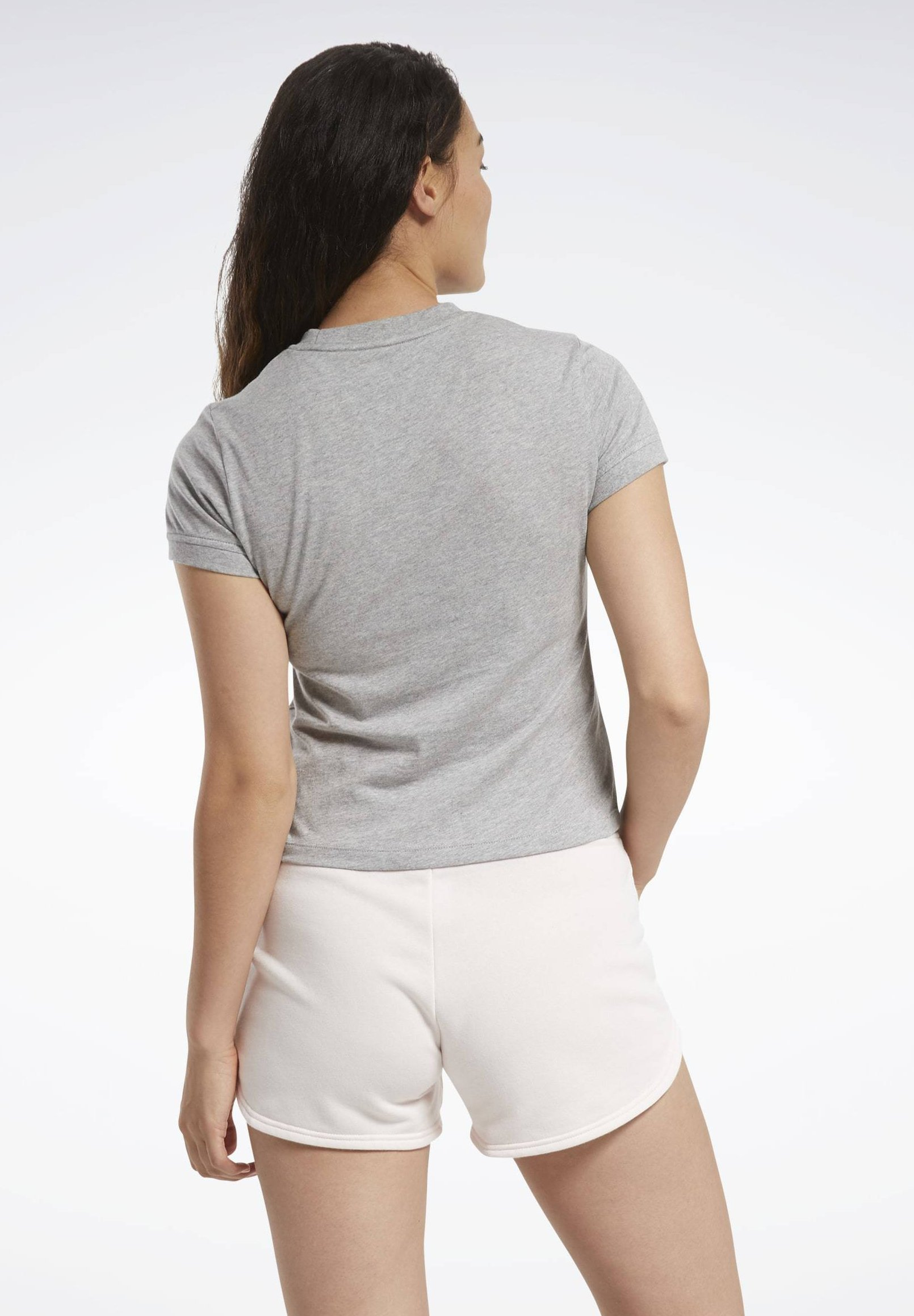 Reebok TRAINING ESSENTIALS TEXTURED T-SHIRT - Print T-shirt - grey DHXQ8