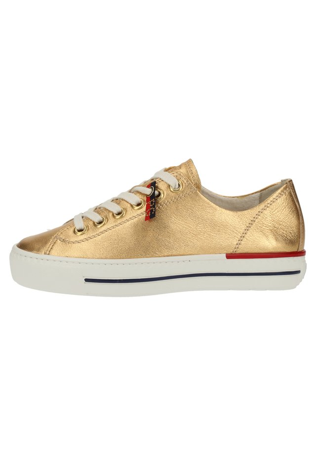 PAUL GREEN SNEAKER - Matalavartiset tennarit - gold metallic 016