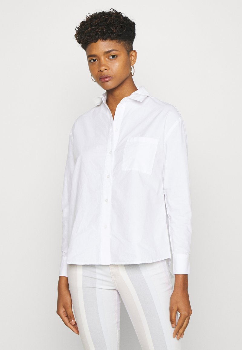 Pieces - PCALABAMA - Button-down blouse - bright white