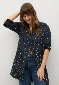 Violeta by Mango - Button-down blouse - marineblau - 0