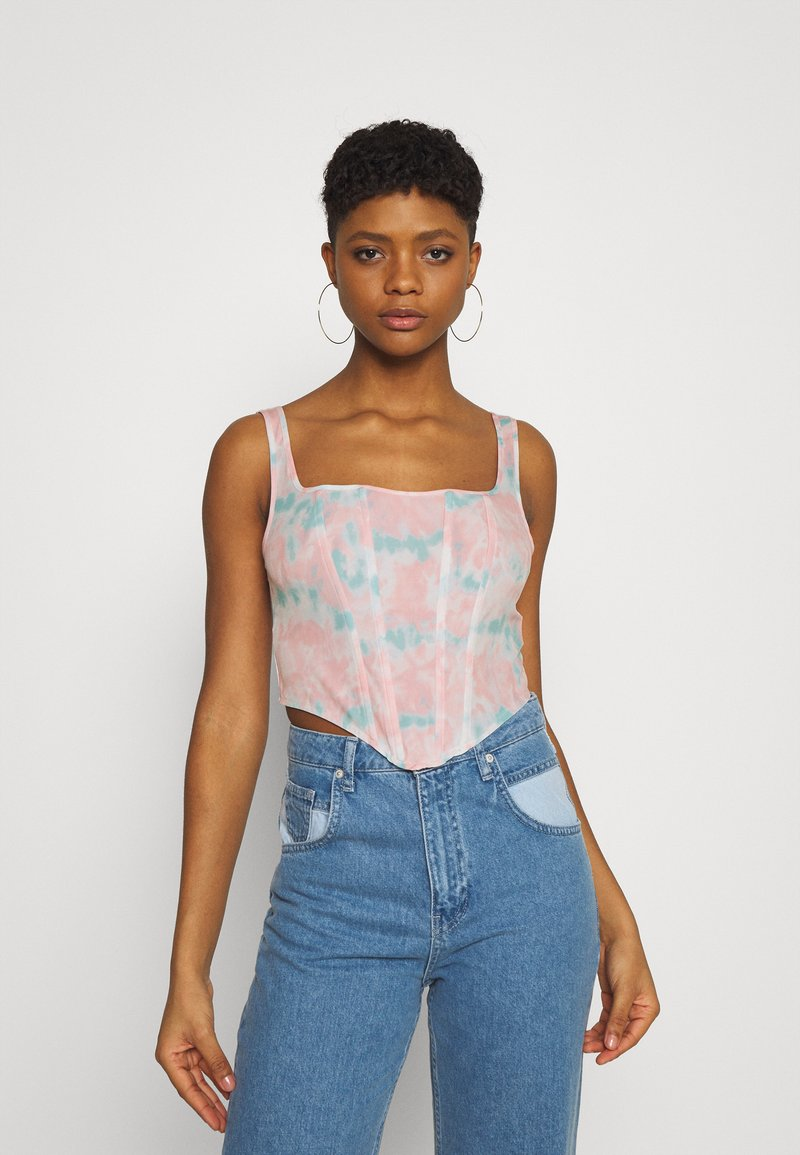 Missguided - TIE DYE CORSET - Top - pink