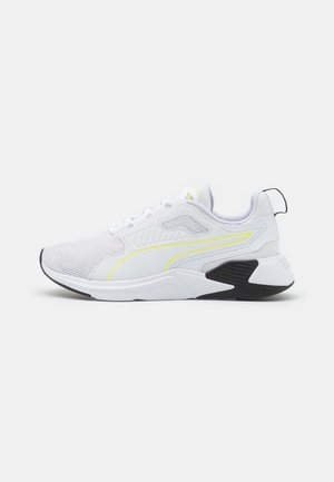 DISPERSE XT - Obuwie treningowe - white/soft fluo yellow