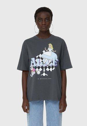 DISNEY ALICE - Print T-shirt - dark grey