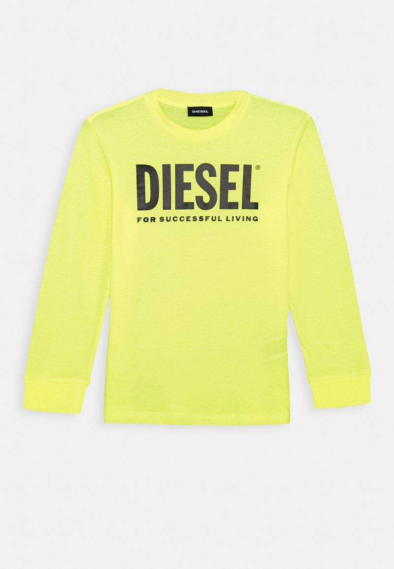Diesel - TJUSTLOGO ML MAGLIET UNISEX - Top sdlouhým rukávem - super bright yellow
