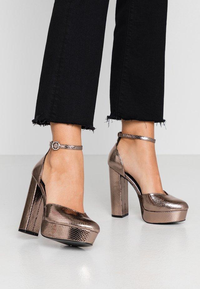 Zapatos altos - dark grey