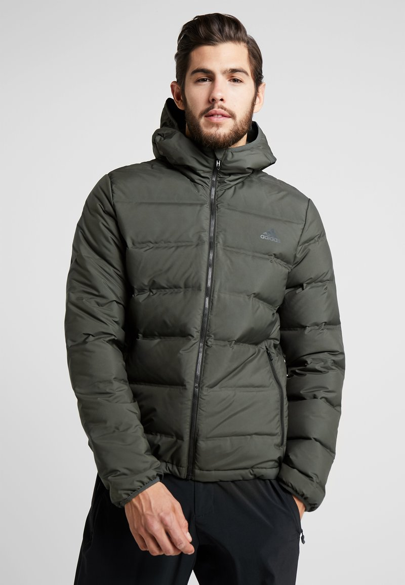 adidas Performance - HELIONIC DOWN JACKET - Chaqueta de invierno - olive