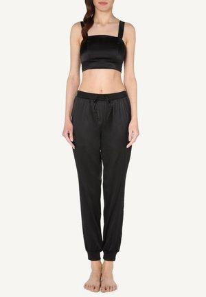 AUS SEIDE UND SPITZE - Pyjama top - black