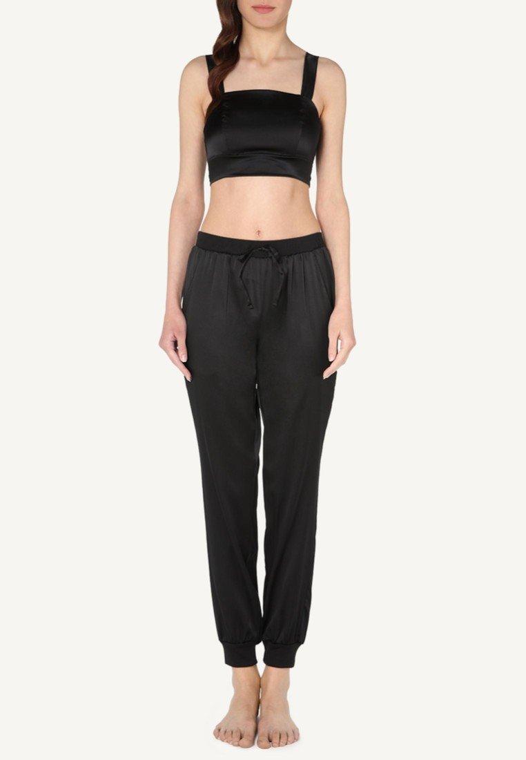 Intimissimi - AUS SEIDE UND SPITZE - Pyjama top - black