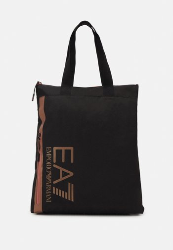 UNISEX - Tote bag - black/rose gold