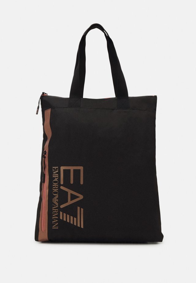 UNISEX - Shopping bag - black/rose gold