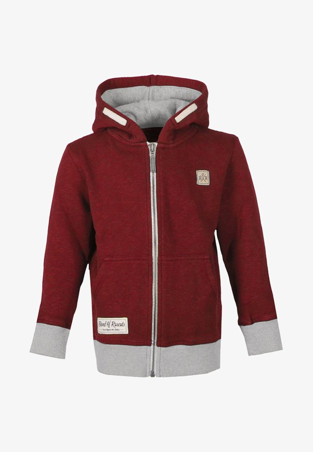 Zip-up hoodie - brick-red
