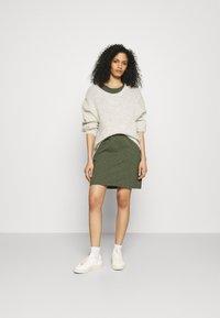 GAP - TEE DRESS - Vestido ligero - tweed green - 1