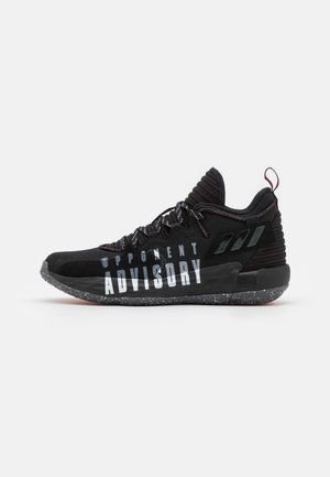 DAME 7 EXTPLY BASKETBALL LILLARD LIGHTSTRIKE SHOES MID - Basketball shoes - core black/footwear white/vivid red