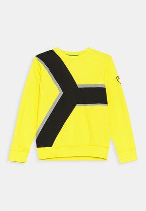 CONTRAST CREWNECK - Sweatshirt - yellow/tenerife