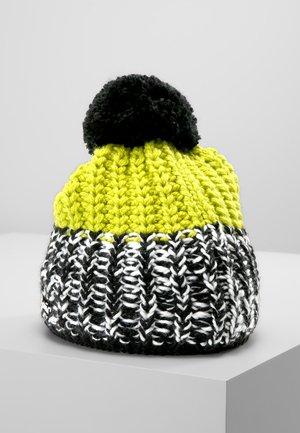 FOCUS POMPON - Beanie - black/white/lime