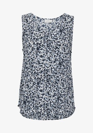 Blouse - blue graphic camou