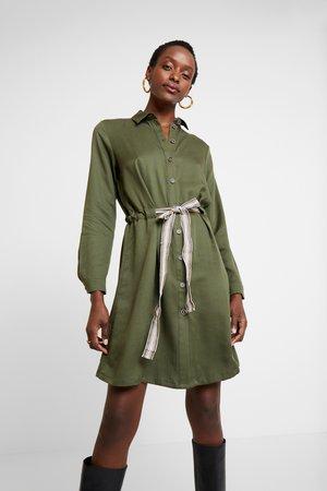 Shirt dress - khaki green