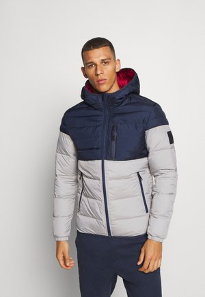 Winterjacke - light grey melange