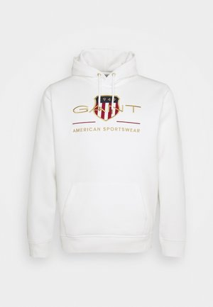 PLUS ARCHIVE SHIELD HOODIE - Sweat à capuche - eggshell