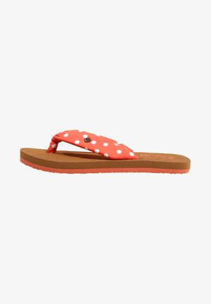 T-bar sandals - orange with