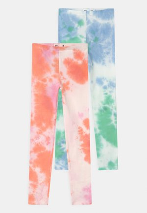 HUGGIE 2 PACK - Leggings - Trousers - musk melon/dusk blue