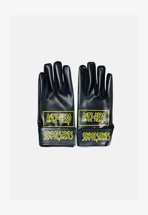Gloves - metallic black
