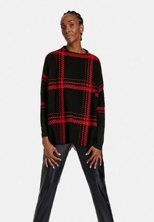 Sweatshirt - schwarz/ chili